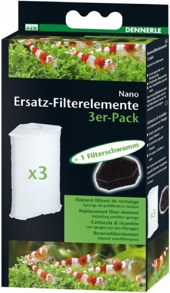 Dennerle Nano Eckfilter und Nano Eckfilter XL 3er Filterelement
