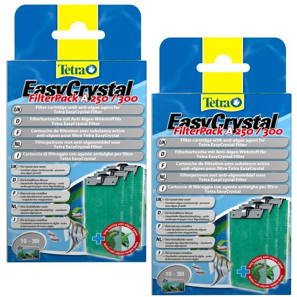 Tetratec EasyCrystal Filter A 250/300 30L. 3erPack mit Anti-Algen Wirkstoff Doppelpack