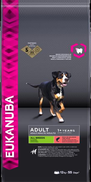 Eukanuba trockene Kroketten mit Lachs alle Hunde 12kg