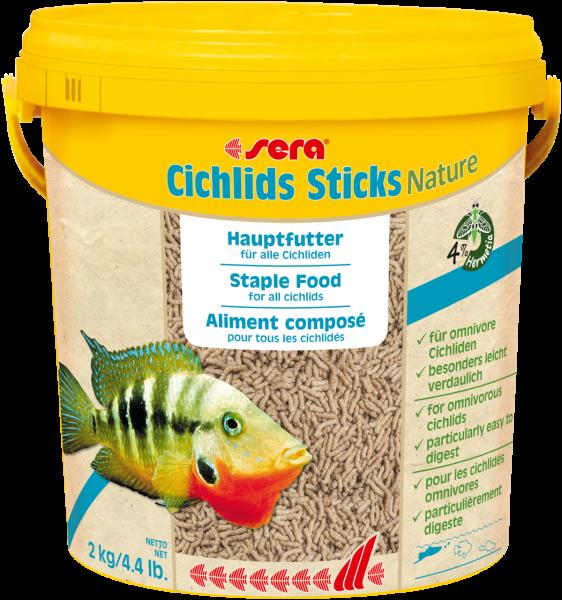 sera Cichlids Sticks Nature 2 kg - 10 l