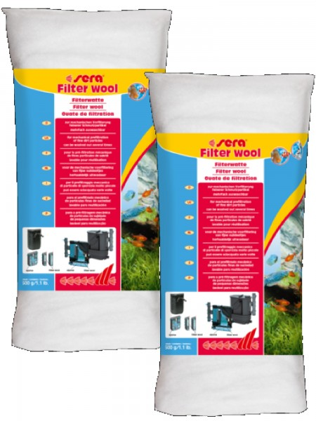 Sera Filterwatte 2 X 500g Doppelpack