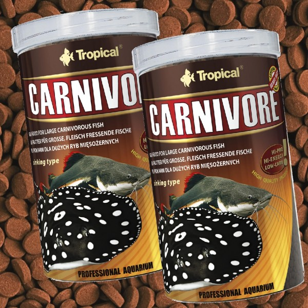TROPICAL CARNIVORE - SINKING PELLETS 2x1Liter Doppelpack