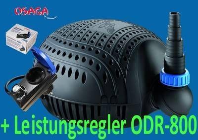 OSAGA ECO OSF Schwarze Flunder +Leistungsregler ODR-800