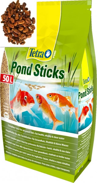 Tetra Pond Teichfischfuttersticks 50 L.+ 200g Seidenraupen