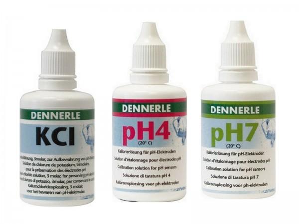 Dennerle Ph4 und Ph7+KCL Eichlösung je 50 ml