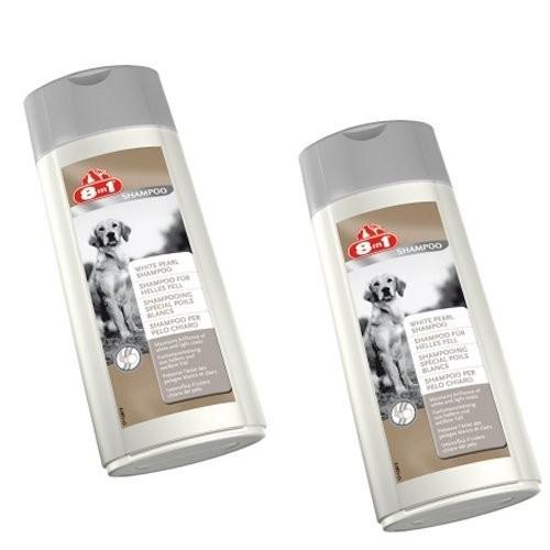 8in1 Shampoo für helles Fell 2 X 250 ml Doppelpack