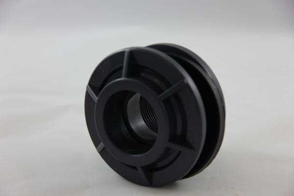 PVC Tankverschraubung Rohr 40 mm auf Inengewinde 1-1/4