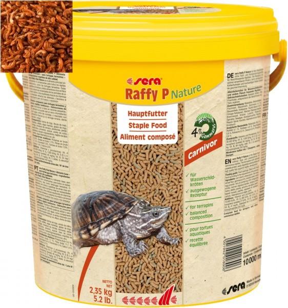 sera raffy P Wasserschildkrötenfutter 10 L. plus 500 ml Gammarus