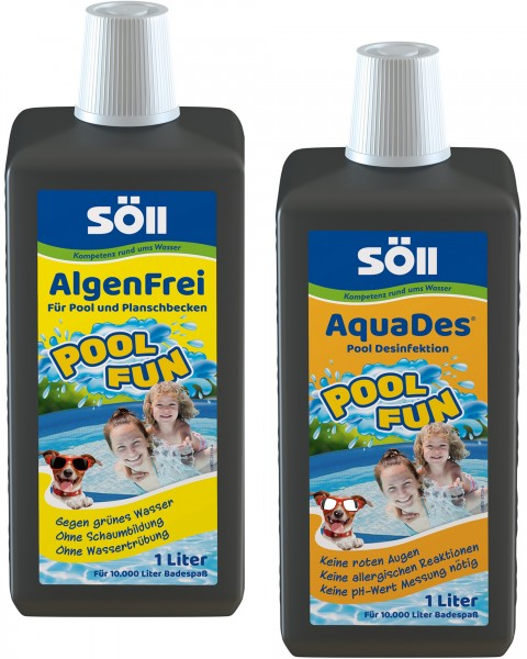 Söll PoolFun-AlgenFrei und Dest je 1 L