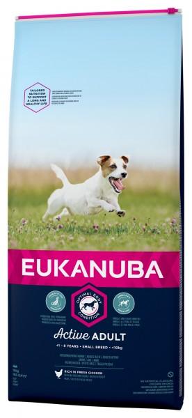 Eukanuba für Erwachsene kleine Hunde Huhn 15kg
