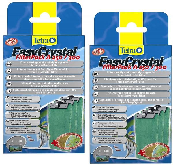 Tetratec EasyCrystal Filter A 250/300 60L. 3erPack mit Anti-Algen Wirkstoff Doppelpack