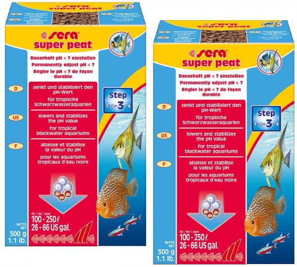 Sera super peat Torfgranulat 2x 500g Filter Schwarztorf Schwarzwasser