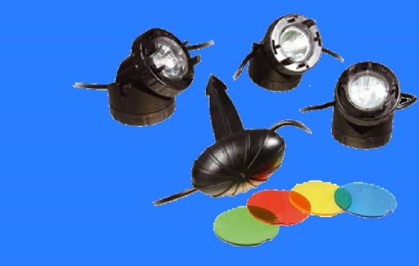 OSAGA LED Teichbeleuchtung, 12 Volt, 3er-Set, 3 x 1,5 Watt