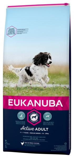 Eukanuba für Erwachsene mittlere Hunde Huhn 15kg