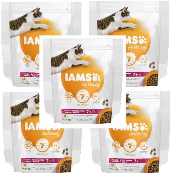 IAMS 5 X 800g Senior für ältere Katzen