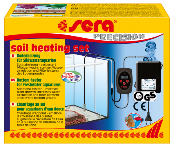 sera soil heating set + professional floreground